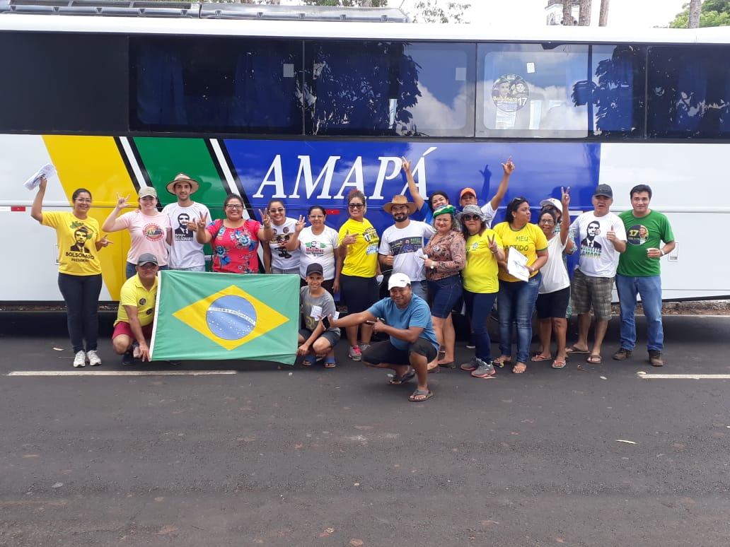 Caravana percorre o Amapá pedindo voto para Bolsonaro