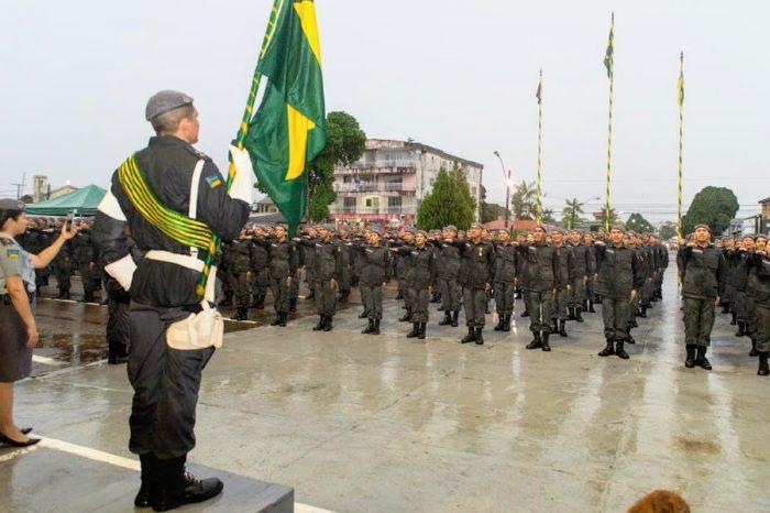 Amapá tem segurança reforçada com formatura de 281 soldados da Polícia Militar